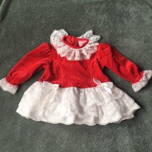 Other - Lace and velvet infant dress